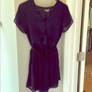 Cut out front Navy blue romper